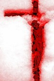 17034491-revelation--bloody-red-crucifix-in-the-snow